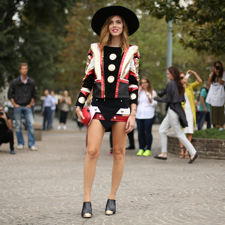 Chiara Ferragni in Just Cavalli