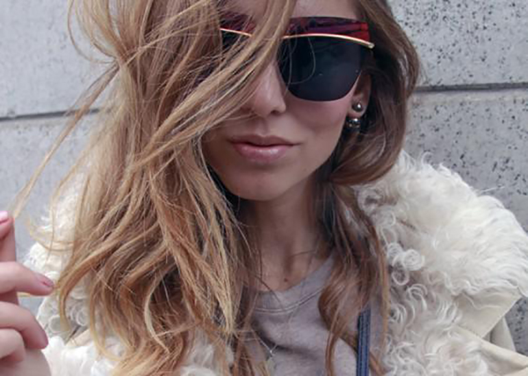 Chiara Ferragni wearing Dior Metallic sunglasses